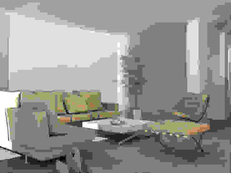 ibedi laboratorio di architettura Minimalist living room Glass Beige