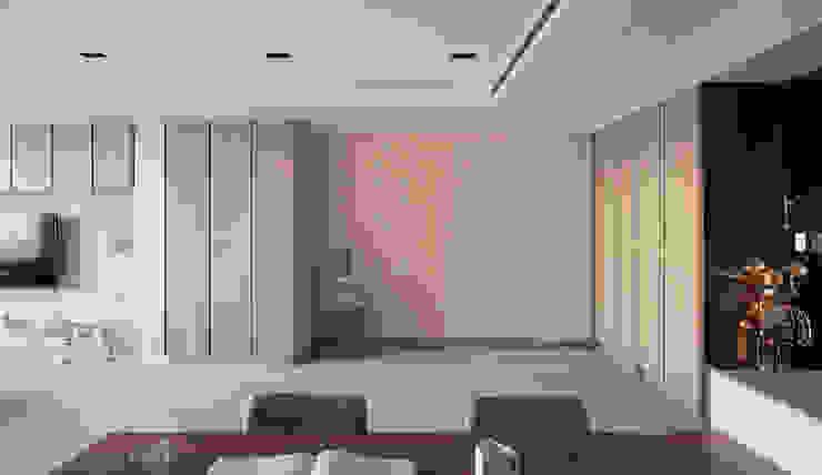 私宅-玩味 地中海走廊,走廊和楼梯 根據 思為設計 SW Design 地中海風