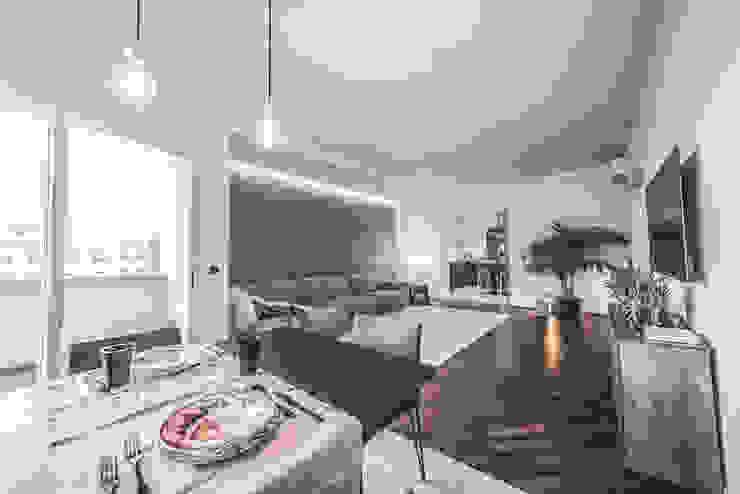Salon minimaliste par MODO Architettura Minimaliste