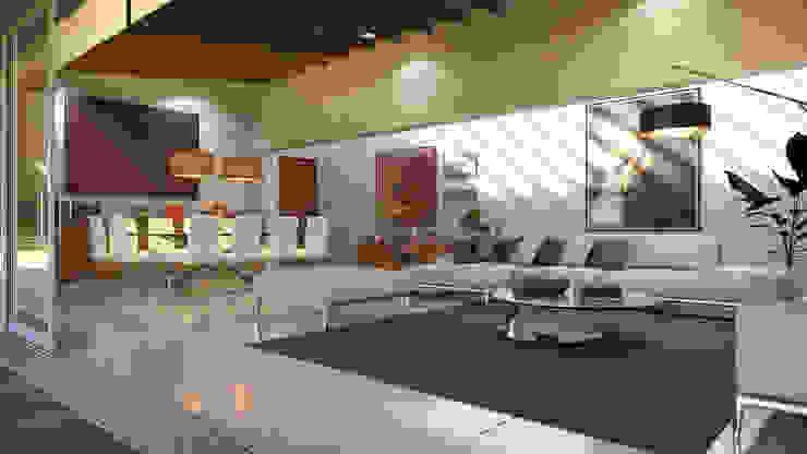 Residencia BGRR Valderrábano Arquitectos Salones modernos