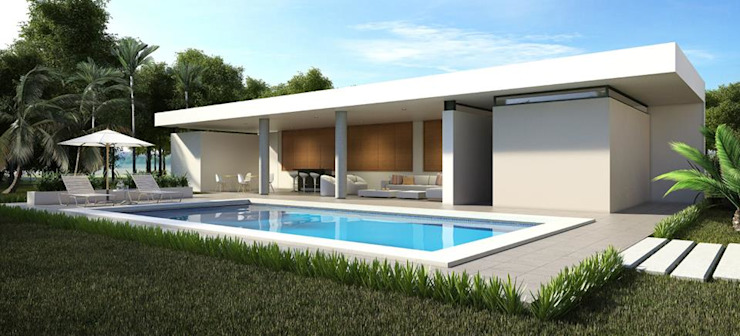 Residencia BGRR Valderrábano Arquitectos Albercas modernas