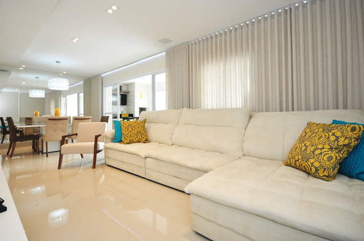 Salones de estilo  de Condecorar Arquitetura e Interiores