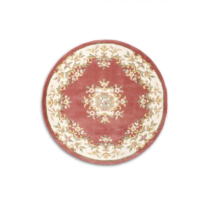 Jager Pure wool Shabby Chic traditional Pink 100% Wool Rug 150 x 240cm homify Walls & flooringCarpets & rugs Wool Pink