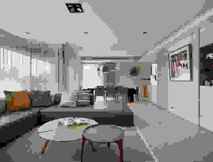 澄‧ 朗 陽光新境-金山南路李宅 现代客厅設計點子、靈感 & 圖片 根據 舍子美學設計有限公司 現代風