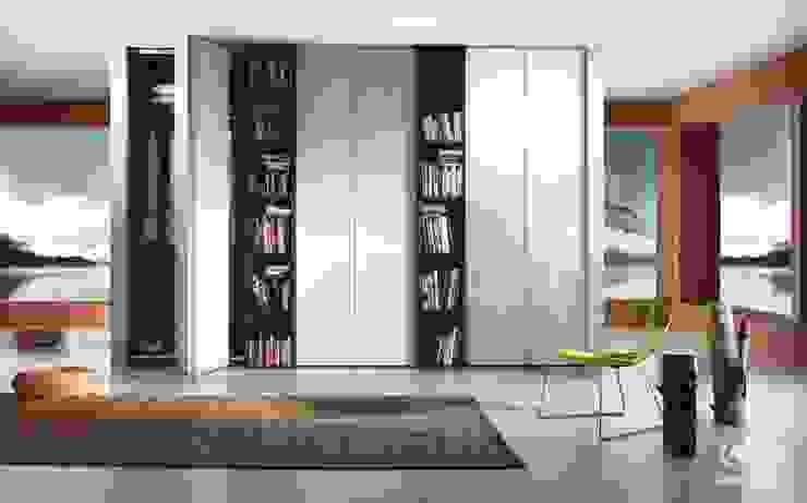 Komandor - Wnętrza z charakterem Living roomShelves Glass Metallic/Silver