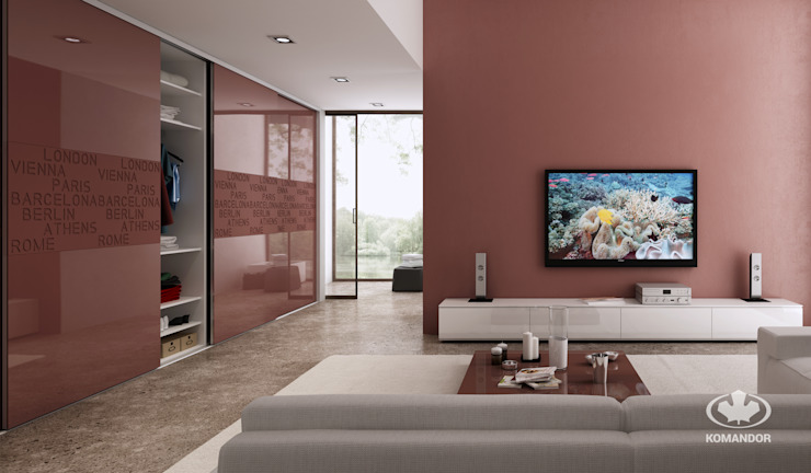 Komandor - Wnętrza z charakterem Living roomStorage Chipboard Brown