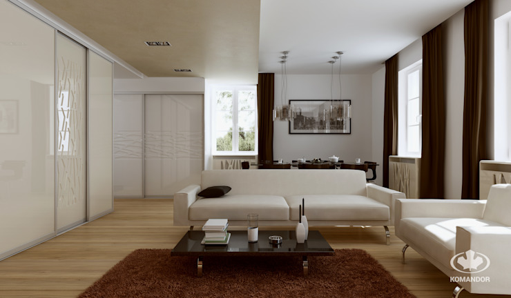 Komandor - Wnętrza z charakterem Living roomStorage Glass White