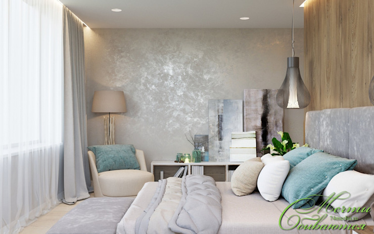 Minimalist bedroom by Компания архитекторов Латышевых 'Мечты сбываются' Minimalist