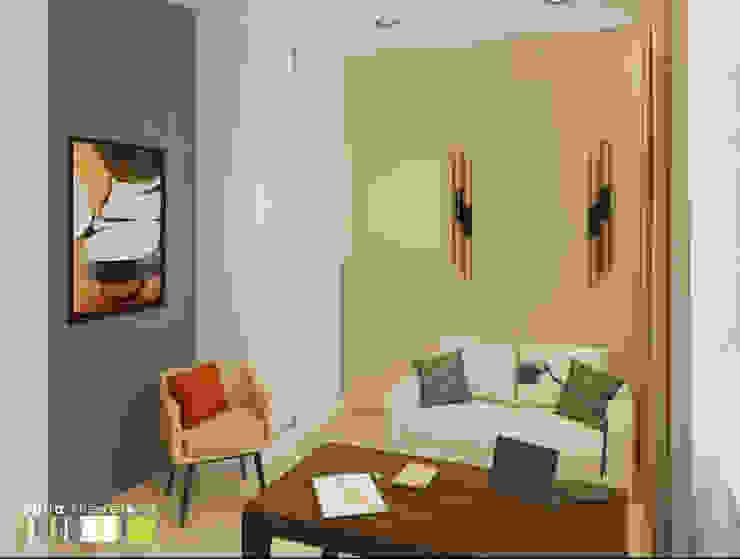 Oficinas de estilo minimalista de Мастерская интерьера Юлии Шевелевой Minimalista