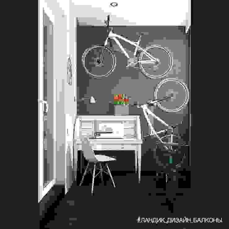 Трехкомнатная квартира с функциональным балконом: Tерраса в . Автор – LANDIK INTERIOR DESIGN