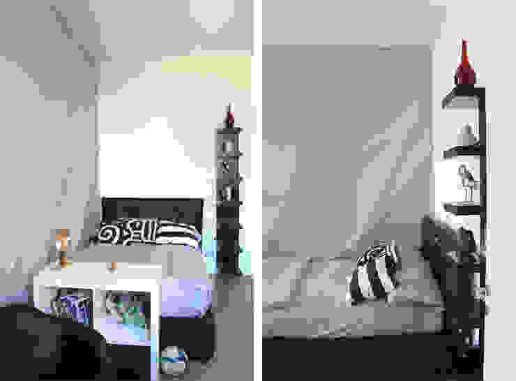 Cameretta Camera da letto moderna di Architetto Luigia Pace Moderno Legno Effetto legno