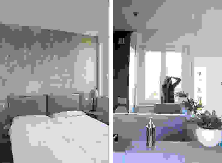 Camera da Letto Matrimoniale con Bagno Camera da letto moderna di Architetto Luigia Pace Moderno Legno Effetto legno