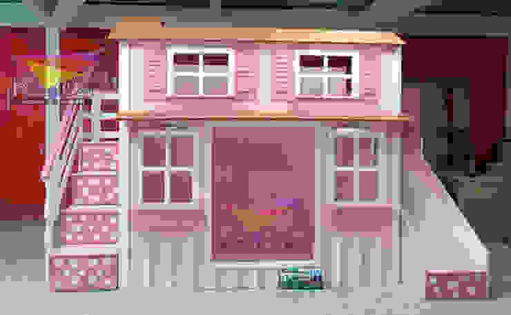 Consentida casita de lunares de camas y literas infantiles kids world Clásico Derivados de madera Transparente
