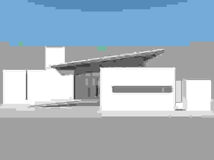 Studio + Arquitetura e Urbanismo Minimalistische Häuser Metall Weiß