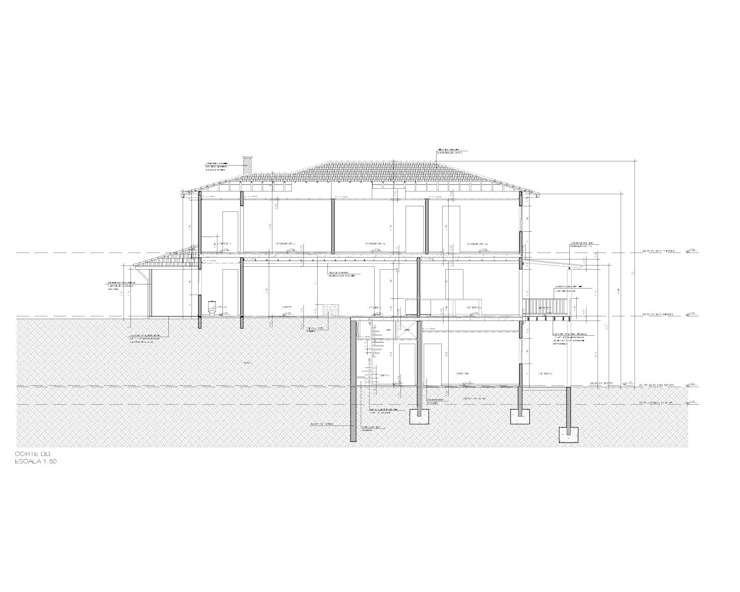 Maisons coloniales par Studio + Arquitetura e Urbanismo Colonial Bois Effet bois
