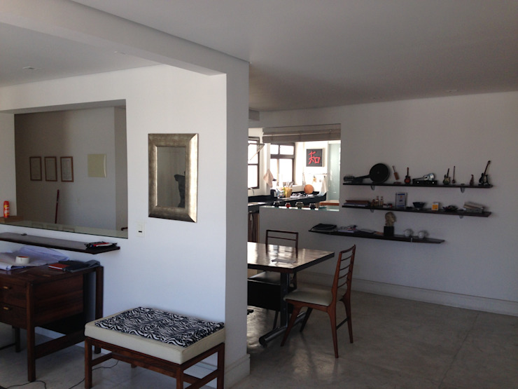 Maisons modernes par Studio + Arquitetura e Urbanismo Moderne Bois composite