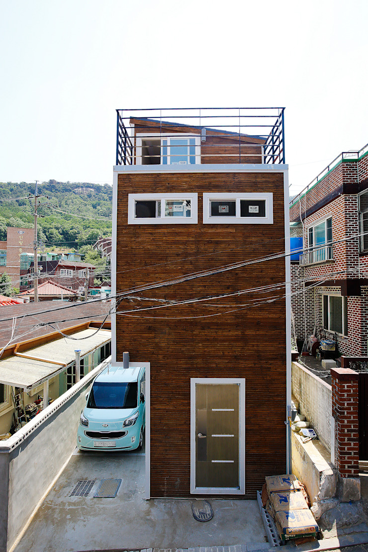 홍제동 협소주택 - H2135 모던스타일 주택 by 마음담은 건축 모던