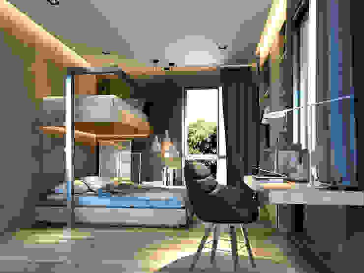 เตียงสองชั้น: ทันสมัย  โดย ramรับออกแบบตกแต่งภายใน, โมเดิร์น