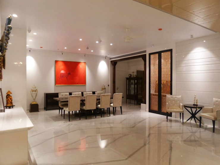 Dining room Eclectic style dining room by bhatia.jyoti Eclectic