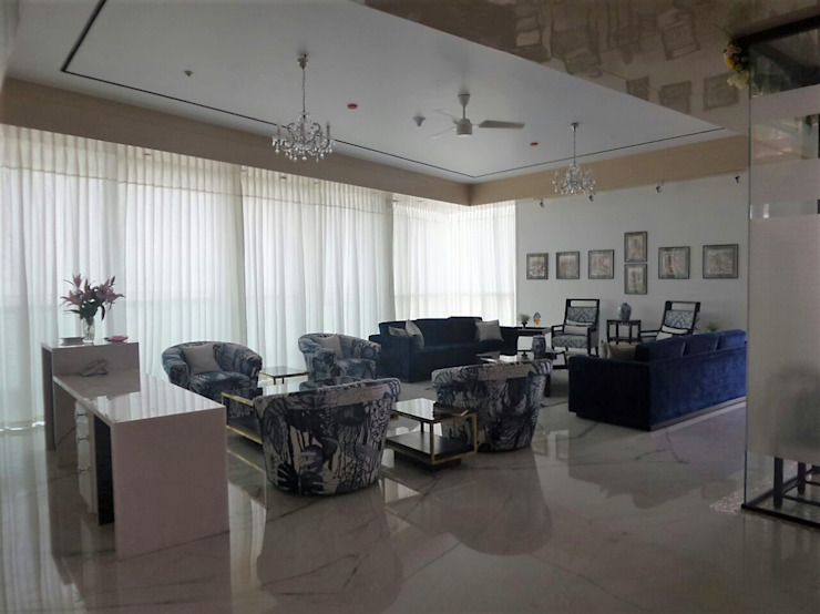 Living Room Eclectic style dining room by bhatia.jyoti Eclectic Marble