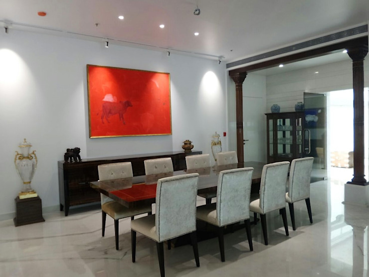 Dining Eclectic style dining room by bhatia.jyoti Eclectic