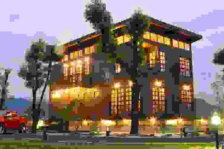 閮檍設計 Ting Yi Design Classic style houses Solid Wood Blue