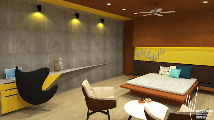 Interior of Ishwarbhai:  Bedroom by Architects at Work
