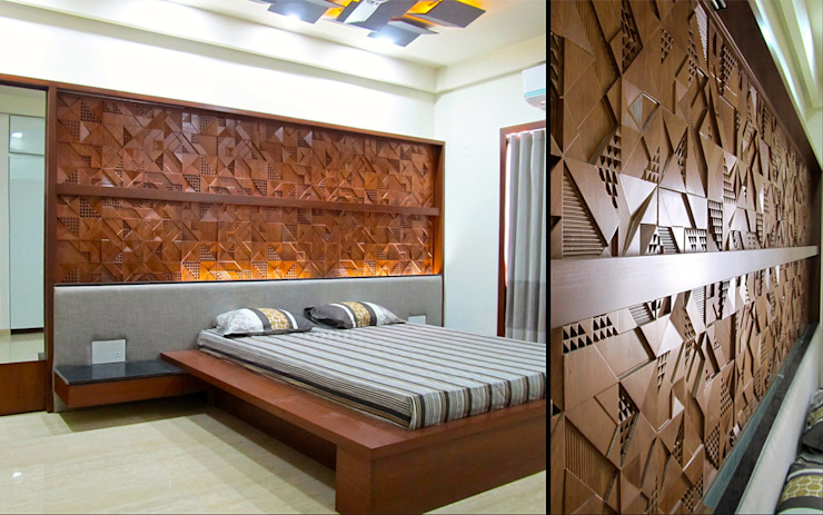 Interior of Rajesh Patel Architects at Work Modern style bedroom