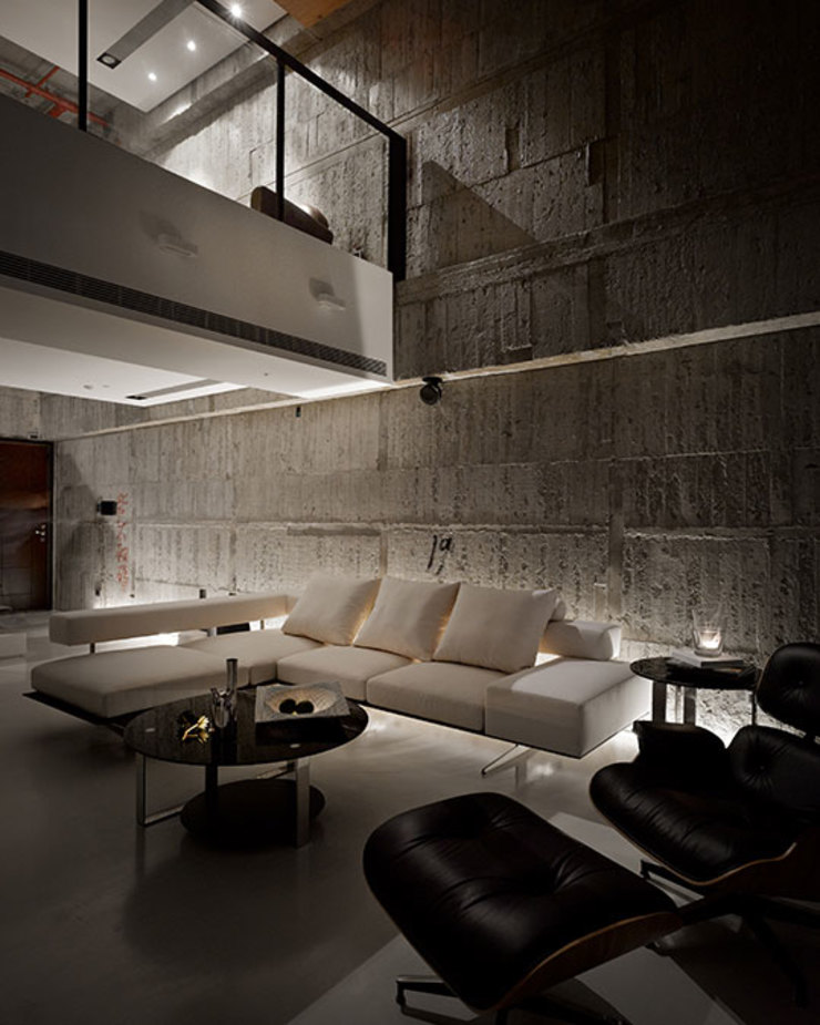 Industrial style living room by 沈志忠聯合設計 Industrial