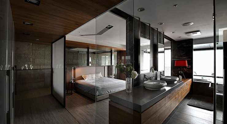 Industrial style bedroom by 沈志忠聯合設計 Industrial