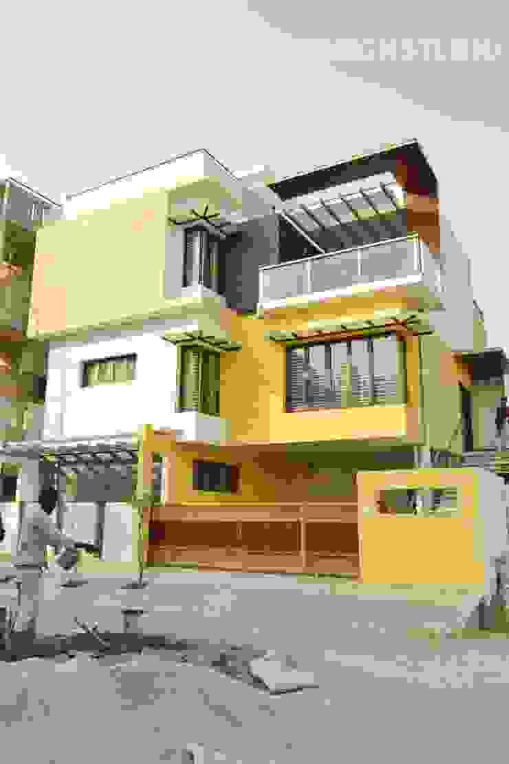 Road facing elevation Minimalist houses by Aadyam Design Studio Minimalist