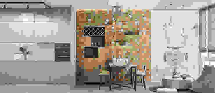 Cucina in stile industriale di Tatiana Zaitseva Design Studio Industrial