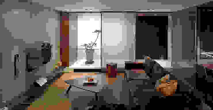 Gradient Space 现代客厅設計點子、靈感 & 圖片 根據 沈志忠聯合設計 現代風