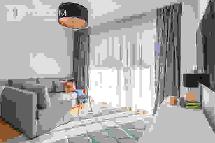 Pracownia Architektury Wnętrz Decoroom Living room Grey