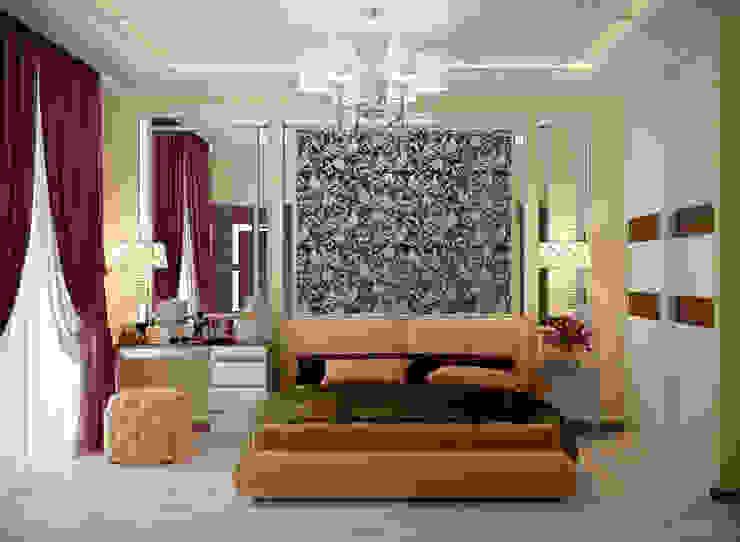 Дизайн спальни в стиле ар-деко в доме в пос. Старобжегокай, г.Краснодар Спальня в классическом стиле от Студия интерьерного дизайна happy.design Классический