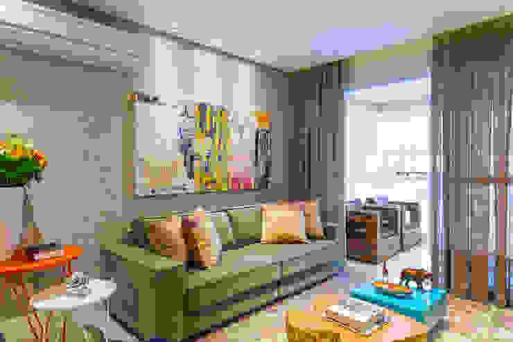 Salas modernas de Casa 27 Arquitetura e Interiores Moderno