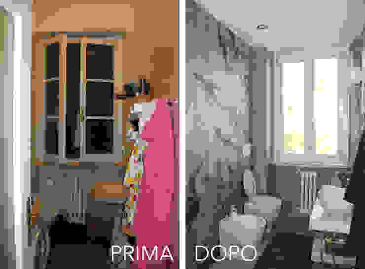 Il Bagno Principale PRIMA / DOPO di Architetto Luigia Pace Moderno