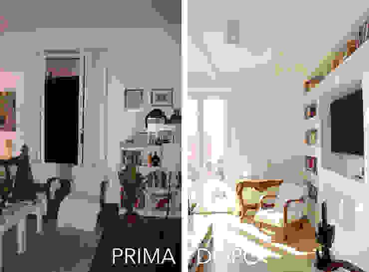 Il Salotto PRIMA / DOPO di Architetto Luigia Pace Moderno