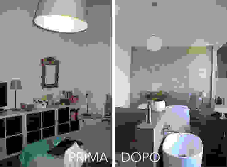 La Camera da Letto Matrimoniale PRIMA / DOPO di Architetto Luigia Pace Moderno