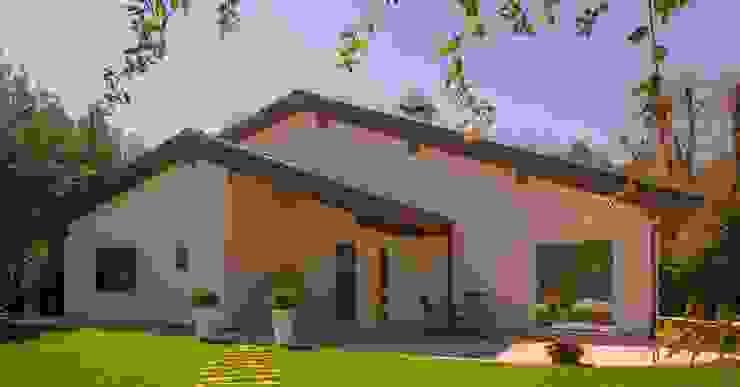 Casas de estilo  por Costantini Case in Legno,