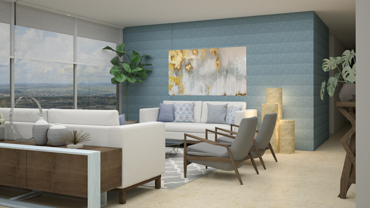 Living room by CONTRASTE INTERIOR, Mediterranean