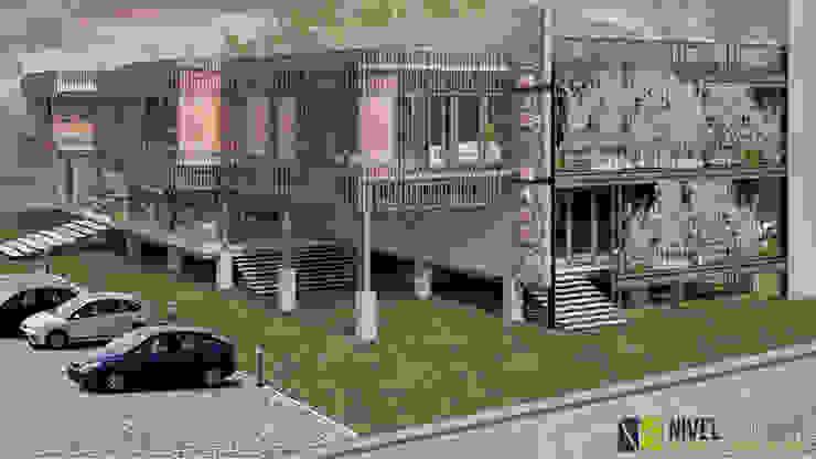 Pasillos, vestíbulos y escaleras de estilo moderno de NIVEL SUPERIOR taller de arquitectura Moderno