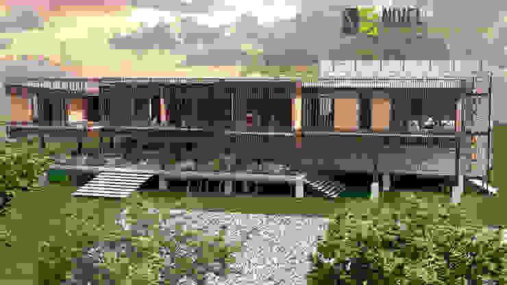 Balcones y terrazas de estilo moderno de NIVEL SUPERIOR taller de arquitectura Moderno