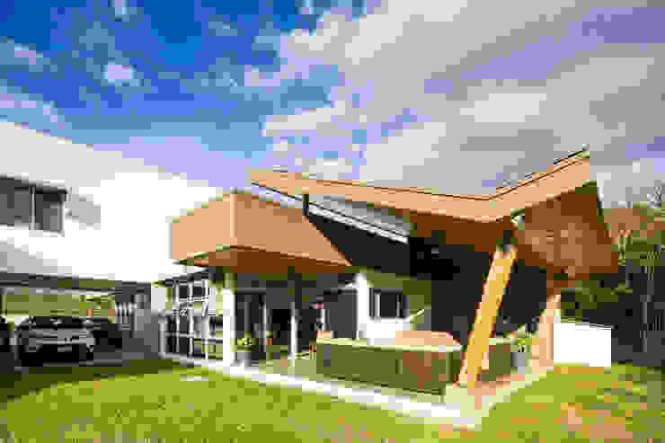 Terraza Balcones y terrazas modernos de J-M arquitectura Moderno Madera Acabado en madera