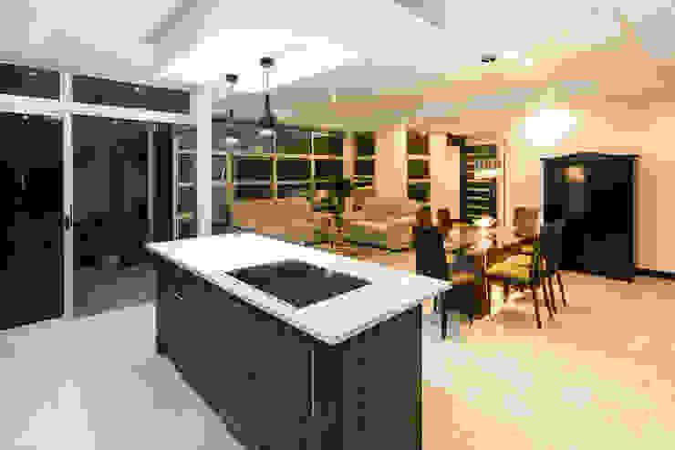 Sala de estar - comedor - cocina Livings de estilo moderno de J-M arquitectura Moderno