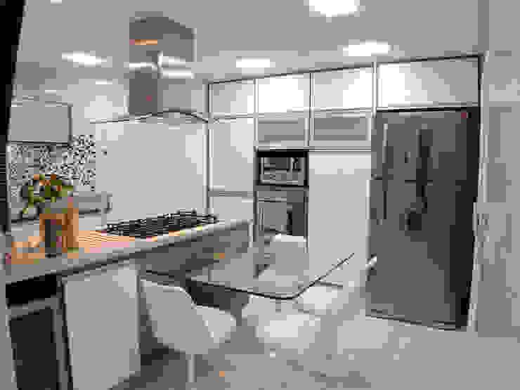 cozinha/copa studio luchetti CozinhaArmários e estantes de madeira e plástico Multi colorido