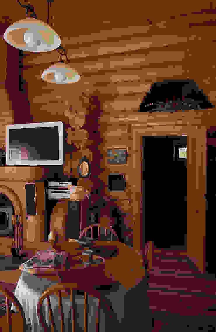 Техно-сруб Classic style living room Wood