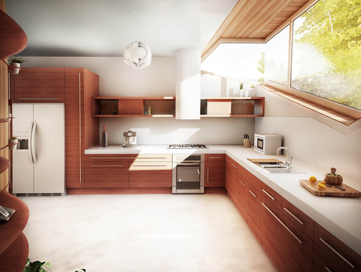 Soft Cube: Cucina in stile  di Denis Confalonieri - Interiors & Architecture, Moderno