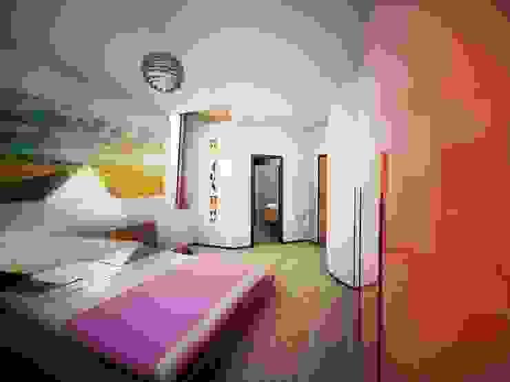 Soft Cube: Camera da letto in stile  di Denis Confalonieri - Interiors & Architecture, Moderno