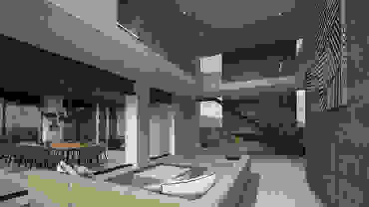 HAC Arquitectura Modern corridor, hallway & stairs Concrete